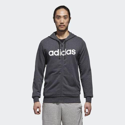 Áo Adidas M Sport Inspired Linear Logo Zip Hoodie Dark Grey Heather  DM4286 Size M