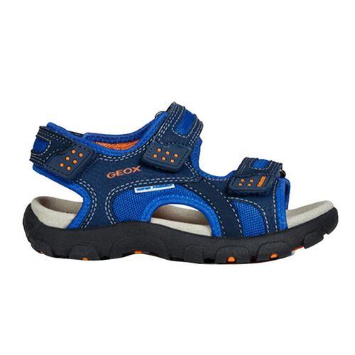 Sandals Bé Trai Geox J S.STRADA B MESH+PRINT.DBK Màu Xanh Navy Size 33