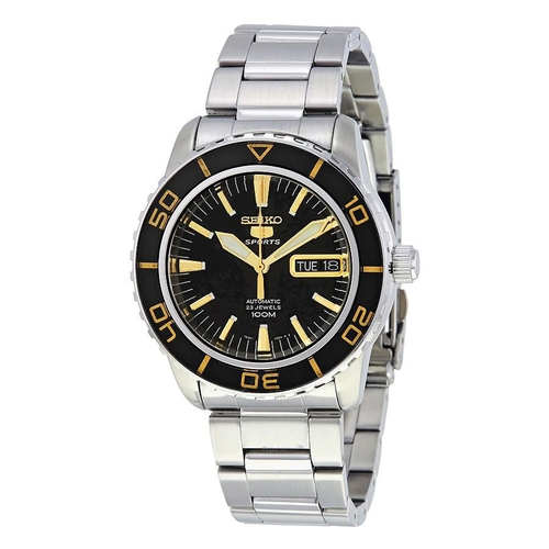 Đồng Hồ Seiko Fifty Five Fathoms Automatic Black Dial Stainless Steel Men's Watch SNZH57