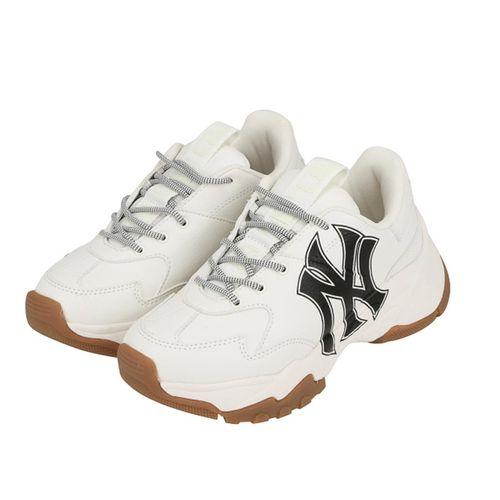Giày Sneaker MLB Big Ball Chunky A Màu Trắng Logo Đen Size 240