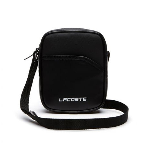 Túi Lacoste Men's Sport Vertical Canvas Bag Black