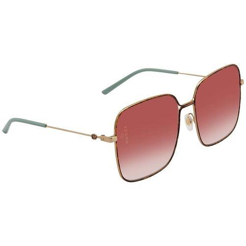 Kính Mát Gucci Red Gradient Square Ladies Sunglasses GG0443S 003 60
