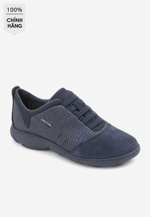 Sneakers Nữ Geox D NEBULA A PR.GLITT.TEXT+SUE Màu Xanh Navy Size 35