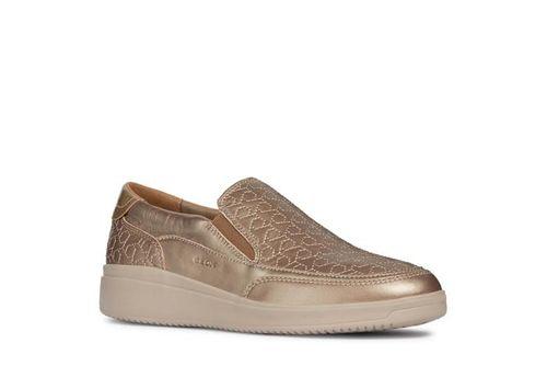 Giày Slip On Nữ Geox D Tahina B Diễu Chỉ Màu Vàng Ánh Kim Size 39