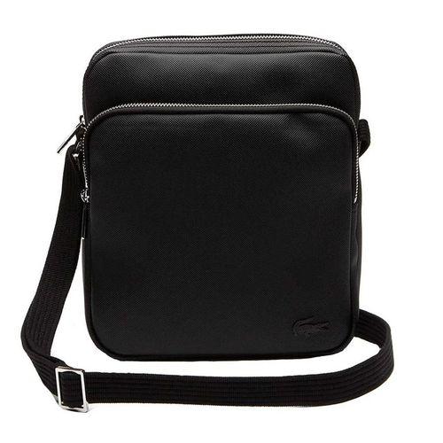 Túi Đeo Chéo Lacoste Men's Classic Petit Pique Double Bag Black