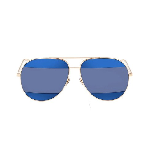 Kính Mát Dior Split Blue Mirror Aviator Unisex Sunglasses