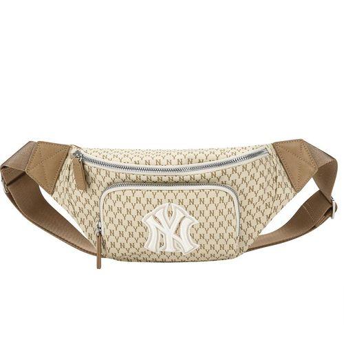 Túi Đeo Hông MLB New York Yankee Monogram Belt Bag Brown