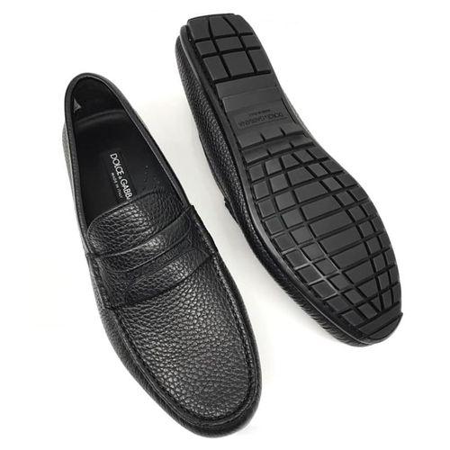 Giày Lười Loafer Dolce & Gabbana Da Sần Màu Đen