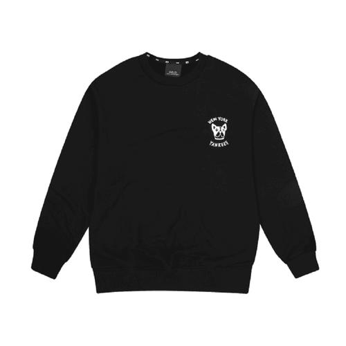 New York Yankess Bark Big Logo Overfit Sweatshit In Black