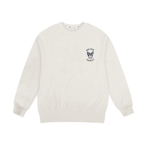 New York Yankess Bark Big Logo Overfit Sweatshit In White