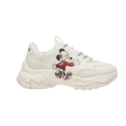 Giày MLB Big Ball Chunky Mickey Boston Red Sox Màu Trắng Size 240