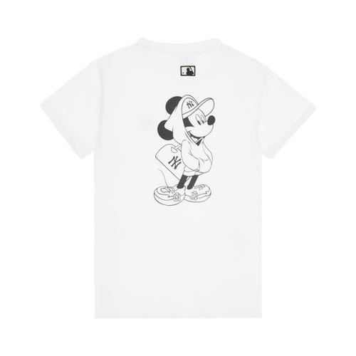 Áo Phông MLB X Disney Short Sleeve T-shirt NewYork Yankees Màu Trắng