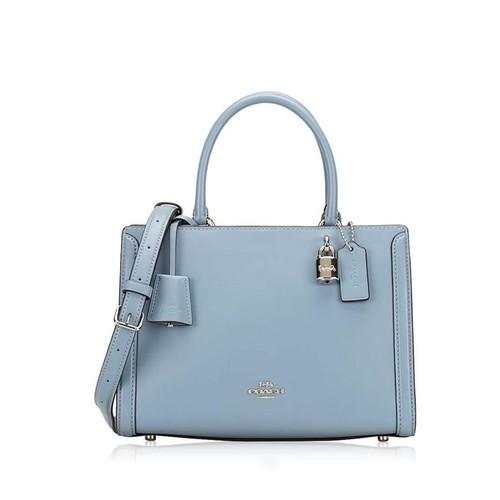 Túi Xách Coach Zoe Small Leather Carryall Cornflower