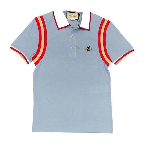 Áo Polo Gucci Màu Xanh Viền Đỏ
