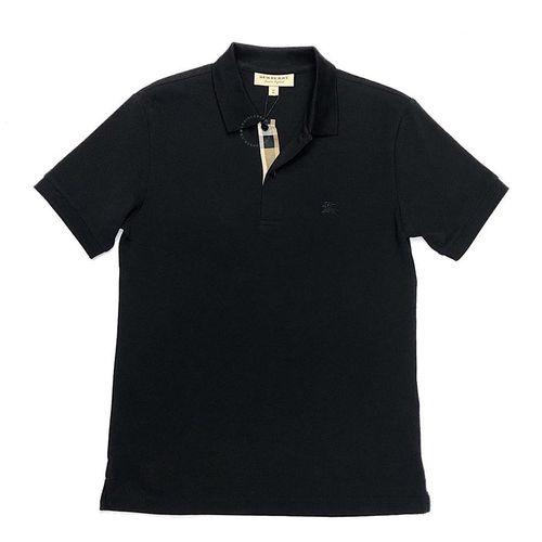 Áo Polo Burberry London England Black Polo Shirt Màu Đen Size M