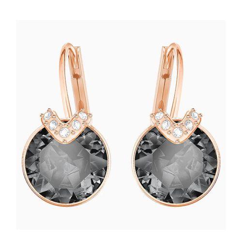 Khuyên Tai Swarovski Bella V Pierced Earrings Gray Rose-Gold Tone Plated