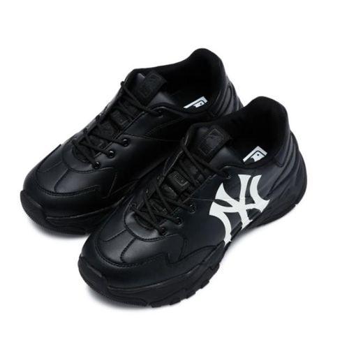 Giày Sneaker MLB Big Ball Chunky A Màu Đen Logo Trắng Size 240