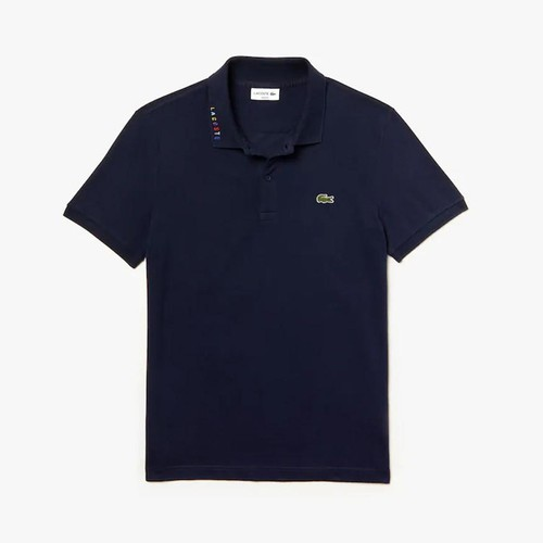Áo Polo Lacoste Men's Slim Fit Multicolored Signature Stretch Pique Polo Màu Xanh Navy Size S