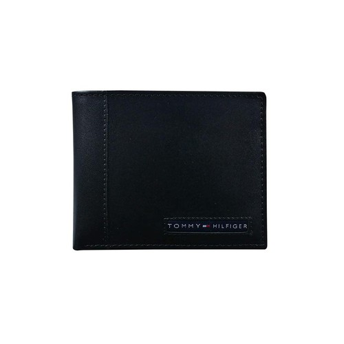 Ví Nam Tommy Hilfiger Men's Thin Sleek Casual Bifold Wallet with 6 Credit Card Pockets And Removable Id Window Màu Đen