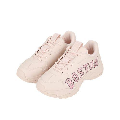 Giày Sneaker MLB Big Ball Chunky P Boston Red Sox Màu Hồng Nhạt Size 235