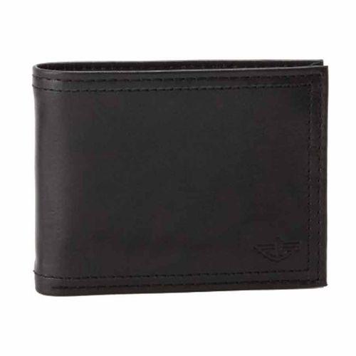 Ví Nam Dockers Mens Extra Capacity Leather Wallet Màu Đen