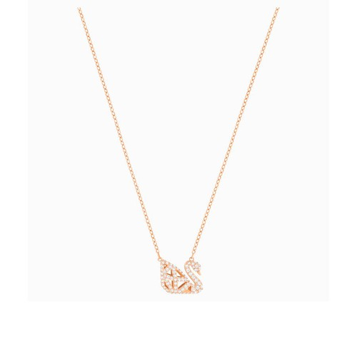 Dây Chuyền Swarovski Facet Swan Necklace, White, Mixed Metal Finish