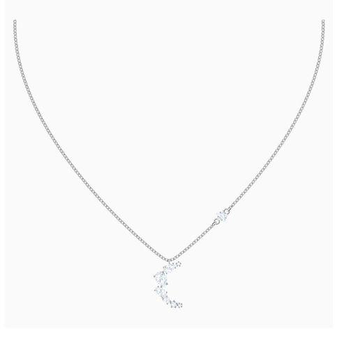 Dây Chuyền Swarovski Penélope Cruz Moonsun Necklace, White, Rhodium Plated