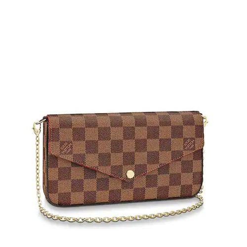 Túi Đeo Chéo Louis Vuitton N63032 Felicie Material Damier Ebene Màu Nâu
