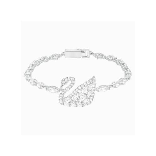 Vòng Đeo Tay Swarovski Swan Lake Bracelet, White, Rhodium Plating