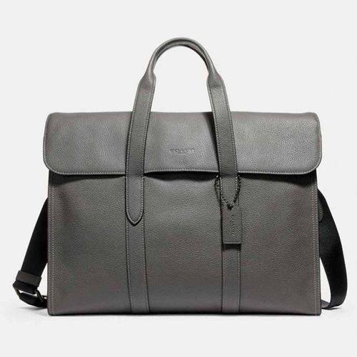Cặp Coach Metropolitan Portfolio Black Antique Nickel Heather Grey Màu Xám