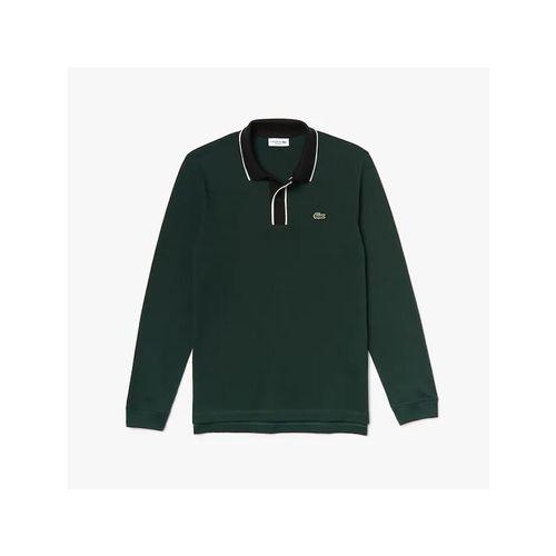 Áo Polo Lacoste Men's Regular Fit Cotton Piqué Polo Shirt Màu Xanh Green Size S