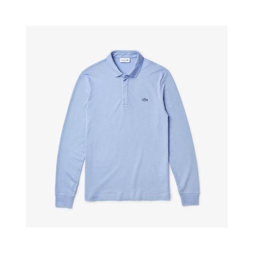 Áo Polo Lacoste Men's Long-sleeve Lacoste Paris Classic Fit Polo Shirt Stretch Màu Xanh Size XS