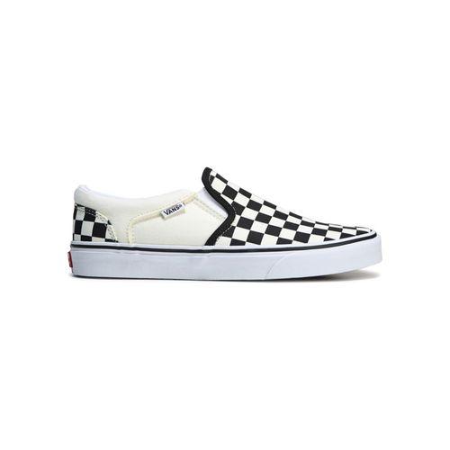 Giày Vans Asher Slip On Checkerboards Màu Trắng - Đen Size 40
