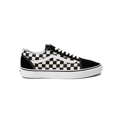 Giày Vans Old Skool Black Checkers Màu Trắng - Đen