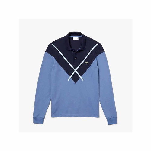 Áo Polo Lacoste De Hombre Lacoste Made In France Regular Fit Màu Xanh Size XS