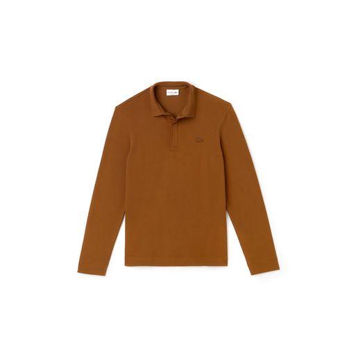 Áo Polo Lacoste Men's Long-sleeve Lacoste Paris Classic Fit Polo Shirt Stretch Màu Nâu Size XS