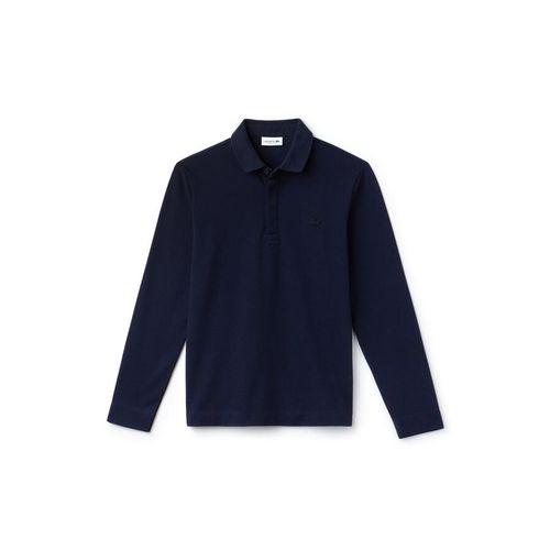 Áo Polo Lacoste Men's Long-sleeve Lacoste Paris Classic Fit Polo Shirt Stretch Màu Xanh Navy Size XS