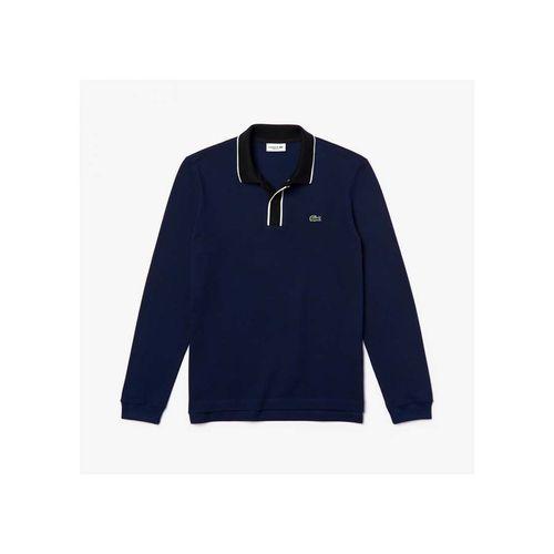 Áo Polo Lacoste Men's Regular Fit Cotton Piqué Polo Shirt Màu Xanh Navy Size S