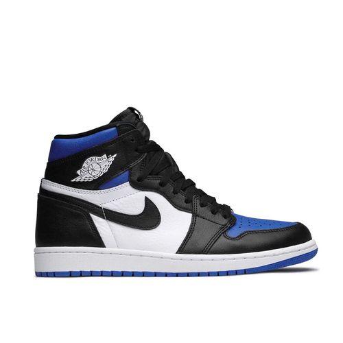 Giày Thể Thao Nike Air Jordan 1 Retro High Og Royal Toe Màu Đen Xanh