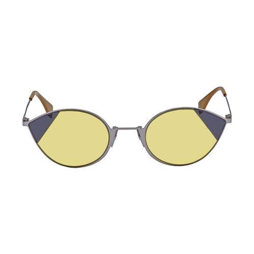 Kính Mát Fendi Cut Eye Yellow Cat Eye Ladies Sunglasses