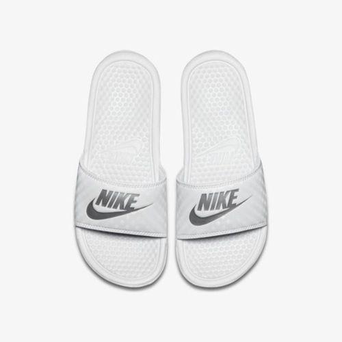 Dép Nike Benassi Just Do It White/Silver Màu Trắng Bạc