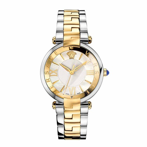 Đồng Hồ Nữ Versace Revive Two Tone Stainless Steel White MOP Dial Watch VAI050016 35mm