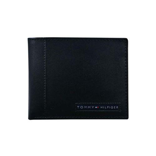 Ví Nam Tommy Hilfiger Men's Thin Sleek Casual Bifold Wallet Tan Màu Đen