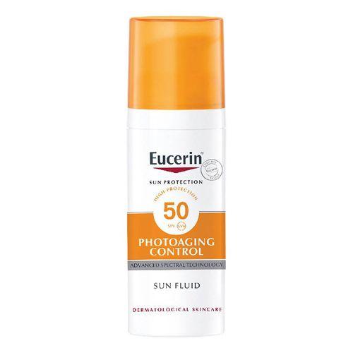 Kem Chống Nắng Hỗ Trợ Giảm Nếp Nhăn Và Trẻ Hóa Da Eucerin Sun Fluid Photoaging Control SPF 50, 50ml