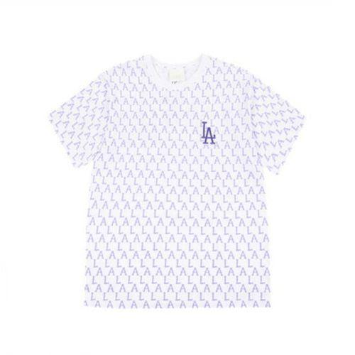 Áo Phông MLB Monogram Allover Overfit Short Sleeve T-Shirt New York Yankees Violet Màu Tím Size S