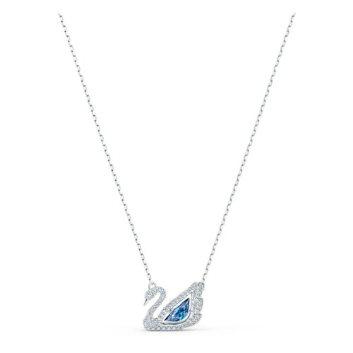 Dây Chuyền Swarovski Dancing Swan Necklace, Blue, Rhodium Plated