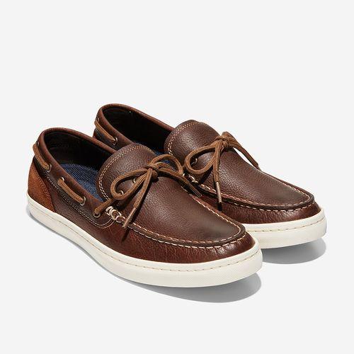 Giày Lười Cole Haan Nantucket Deck Camp Moc Loafer Màu Nâu Gỗ Size 42
