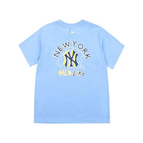 Áo Phông MLB Like Popcorn Overfit Short Sleeve T-shirt New York Yankees Màu Xanh Size S