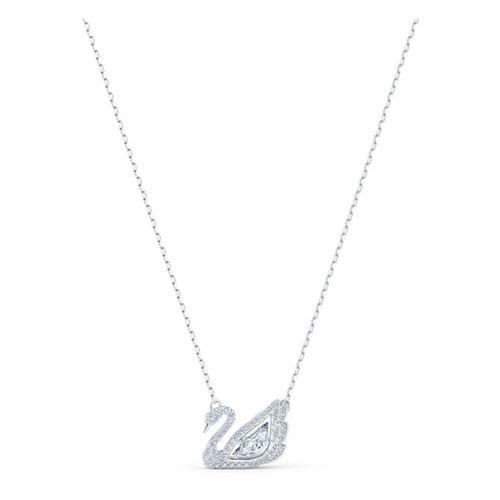 Dây Chuyền Swarovski Dancing Swan Necklace, White, Rhodium Plated