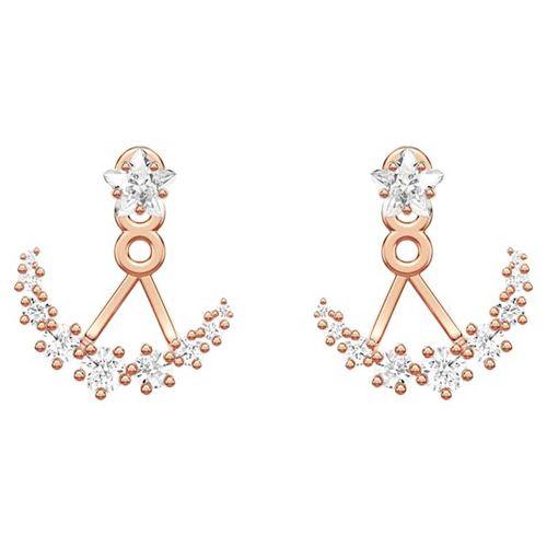 Khuyên Tai Swarovski Moonsun Pierced Earring Jackets White Rose-gold Tone Plated